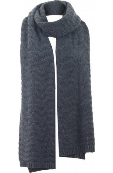 Dark Grey Knit Scarf