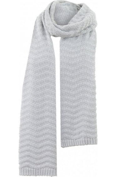 Light Grey Knit Scarf