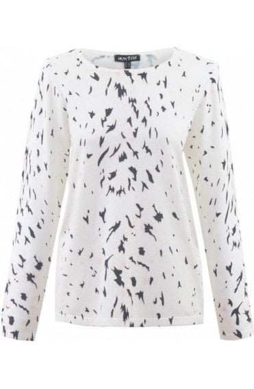 Black & White Patterned Jumper