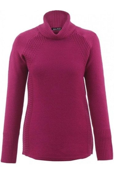 Berry Pink Knit Jumper