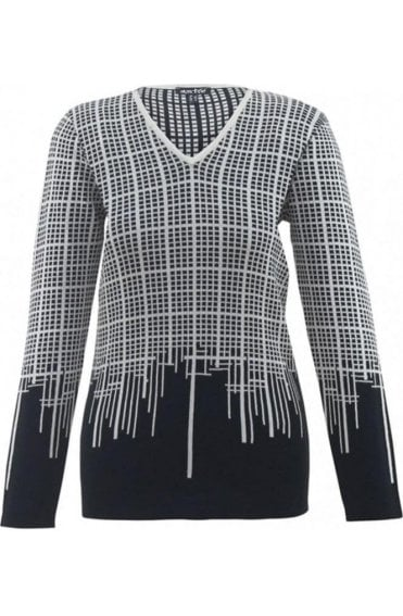 Black & White Check Jumper