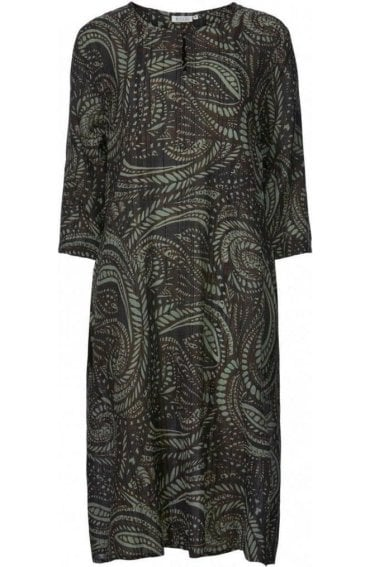 Nona Paisley Print Dress