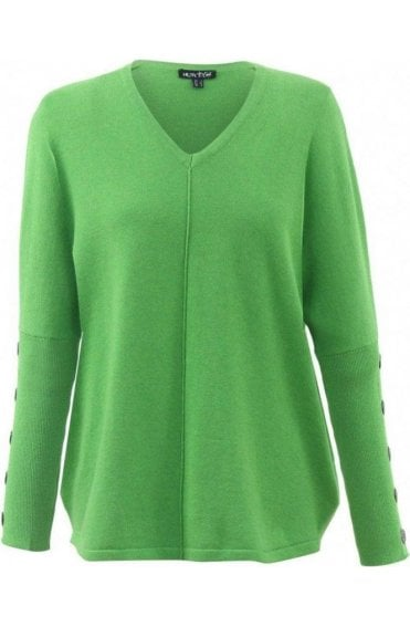 Green Fine Knit Jumper