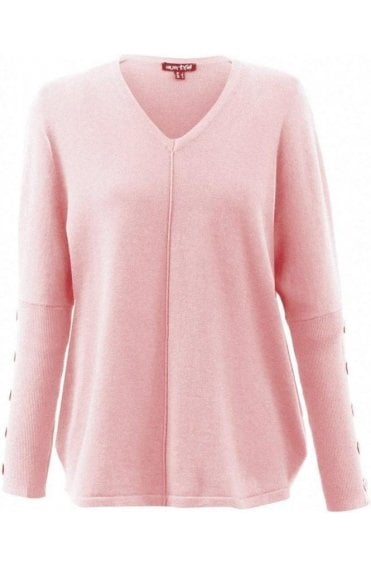 Pale Pink Fine Knit Jumper