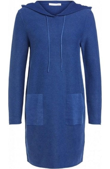 Bijou Blue Knit Hooded Dress