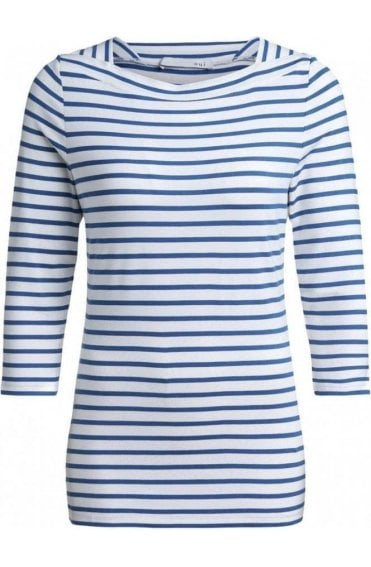 Blue & White Striped Top