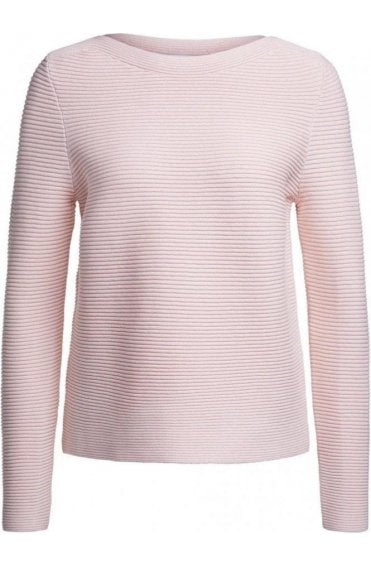 Peach Whip Ribbed Knit Jumper