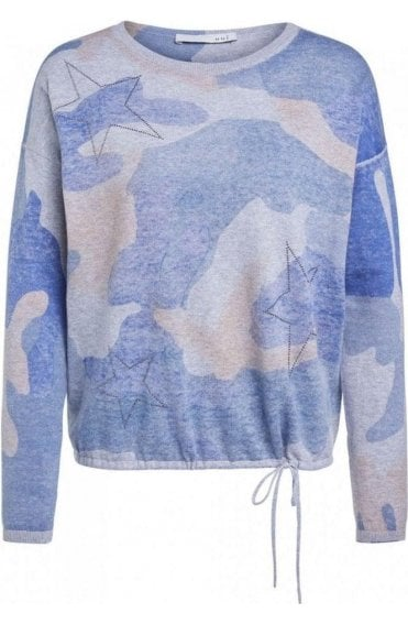 Blue Patterned Jumper
