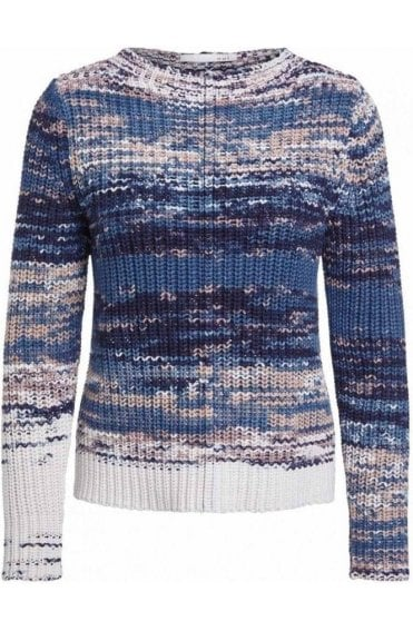 Blue Chunky Knit Jumper
