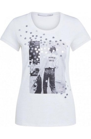 Silver Star Design T-Shirt