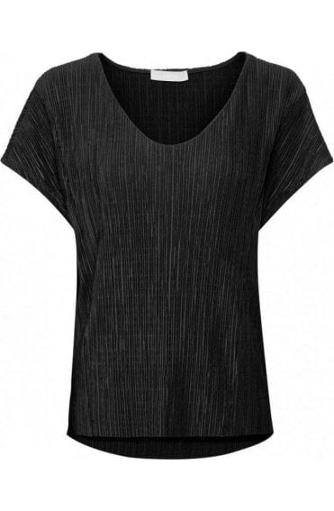 Crinkle Effect Black Top