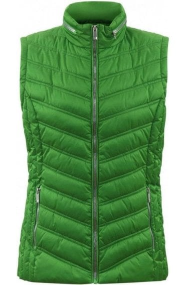 Green Quilted Waistcoat