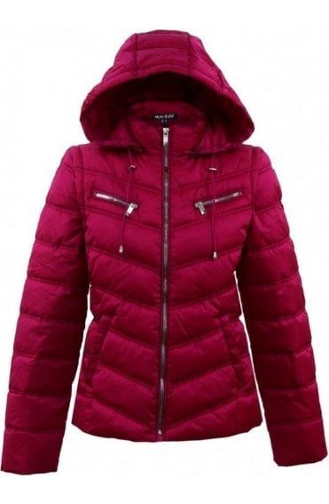 Pink 2in1 Quilted Coat