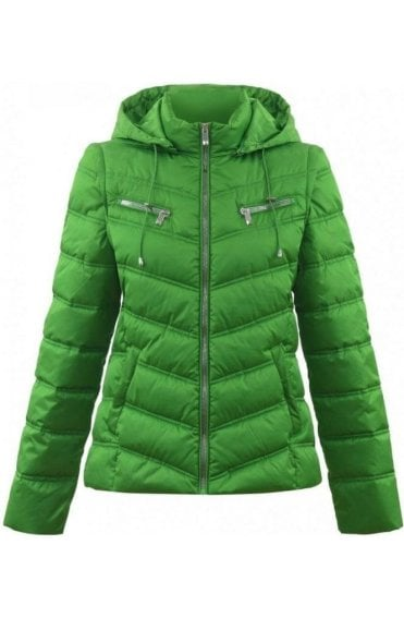 Green 2in1 Quilted Coat