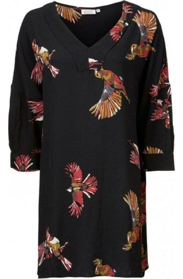 Gracil Bird Print Tunic