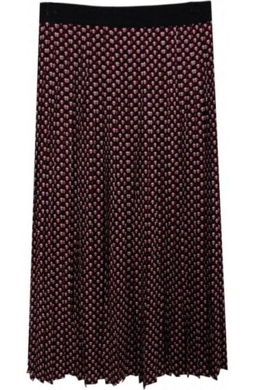 Sunny Patterned Pleated Skirt