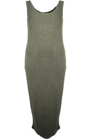 Nancy Khaki Midi Dress