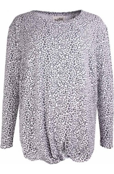 Mallory Leopard Print Top