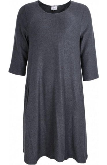 Anthracite Soft Knit Swing Dress