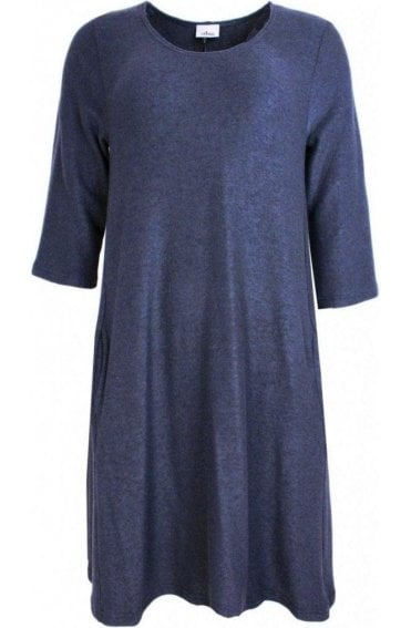 Indigo Soft Knit Swing Dress
