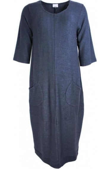 Indigo Soft Knit Dress
