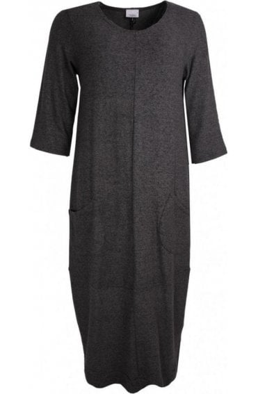Anthracite Soft Knit Dress