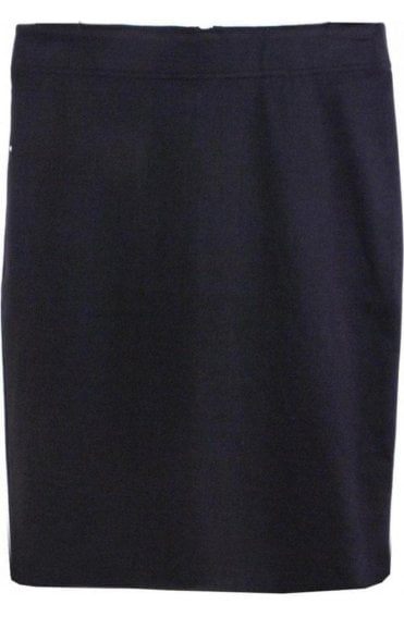 Black Straight Fitted Skirt