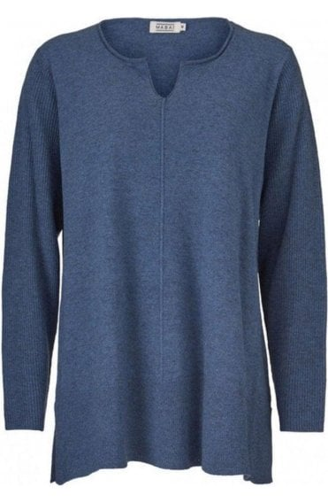 Finella Blue Knit Jumper