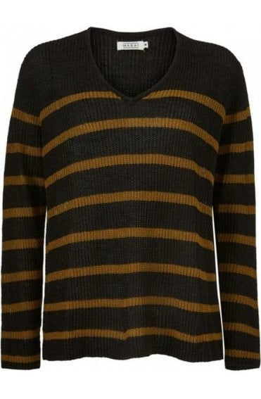 Flo Ginger Stripe Knit Jumper