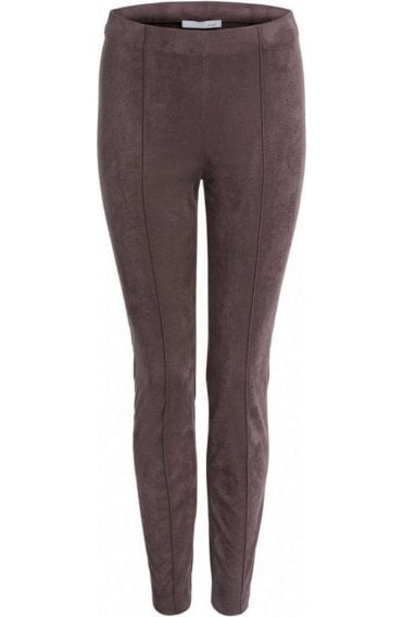 Chocolate Suede Effect Trousers