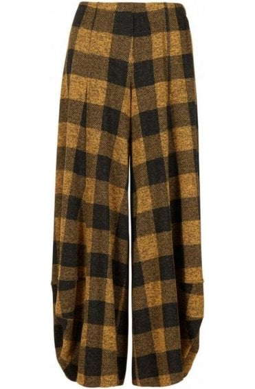Honey Wide Leg Check Culottes