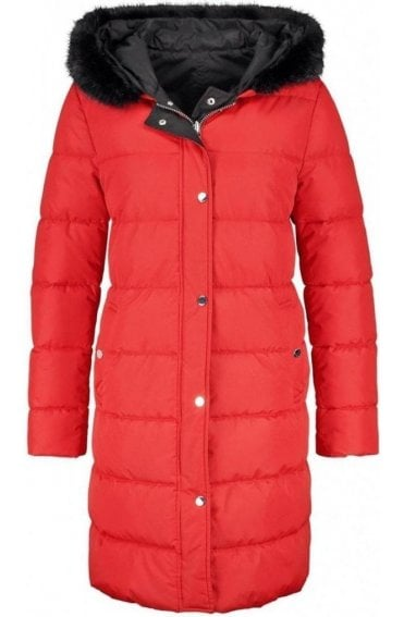 Red Quilted Reversible Coat