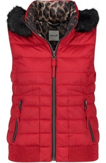 Red Quilted Waistcoat
