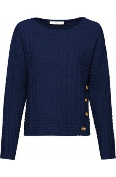 Navy Button Detail Jumper