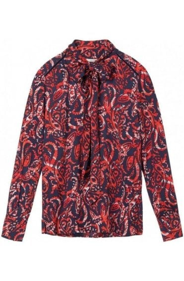 Red Clay Bold Print Blouse