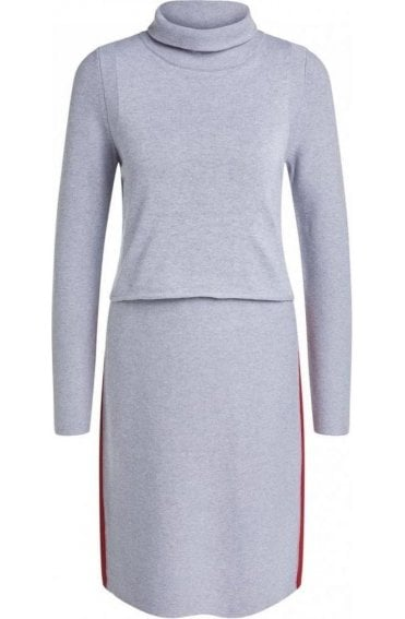 Grey Knit Layered Dress