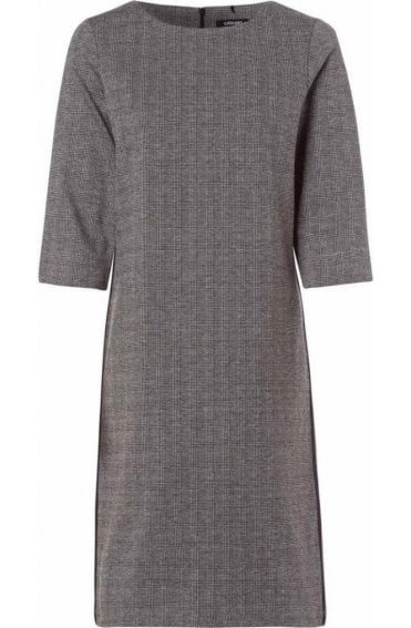 Grey Check Fitted Dress