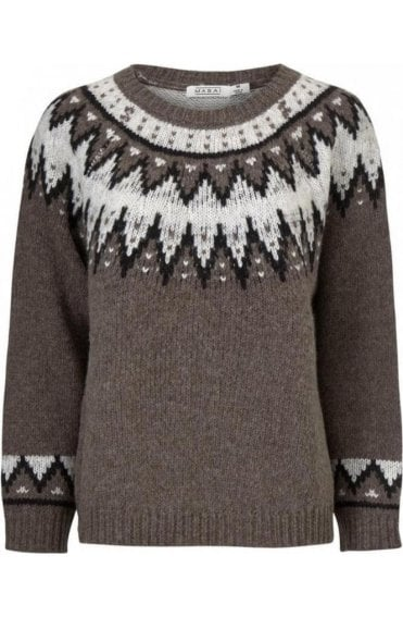 Filiz Patterned Knit Jumper