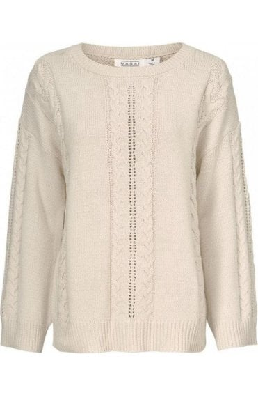 Finola Cream Cable Knit Jumper
