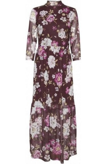 Purple Floral Maxi Dress