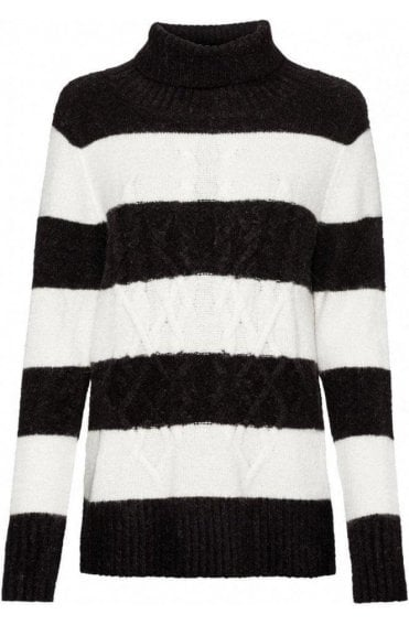 Black & White Striped Jumper