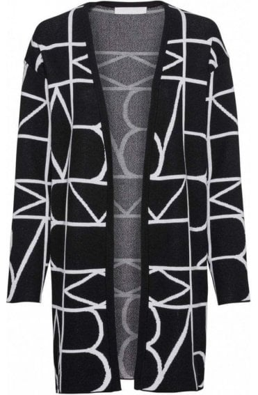 Black & White Patterned Cardigan