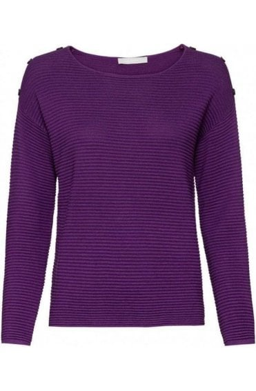 Purple Ribbed Knit Jumper