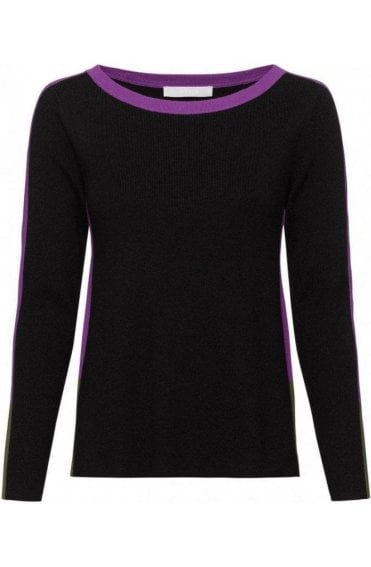 Black & Purple Jumper