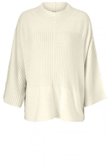 Fran Cream Ribbed Knit Jumper