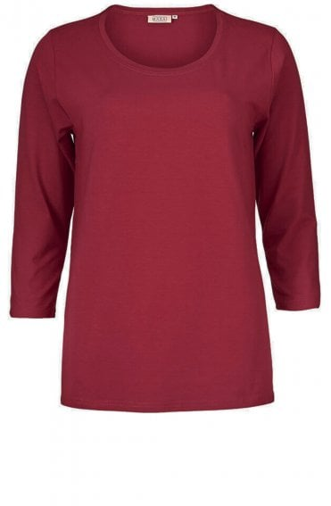 Cilla Red Jersey Top