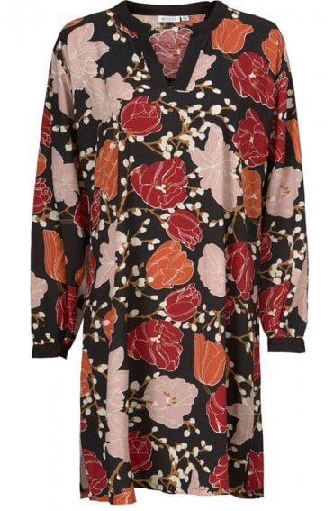 Goldie Bold Floral Print Dress