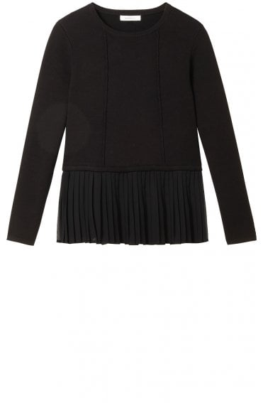 Black Layered Effect Jumper
