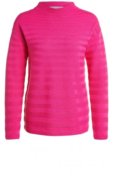 Pink Ribbed Knit Jumper