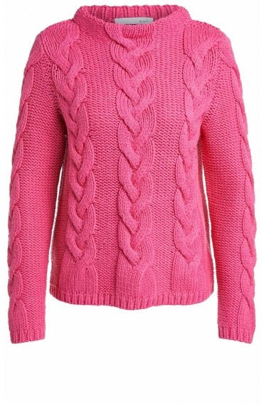 Pink Cable Knit Jumper
